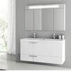 "ACF Bathroom Vanities New Space 47"" Double Bathroom Vanity Set with Mirror"