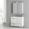 """ACF Bathroom Vanities New Space 31.3"""" Single Bathroom Vanity Set"""