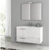 """ACF Bathroom Vanities New Space 39.2"""" Single Single Bathroom Vanity Set with Mirror"""