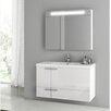 """ACF Bathroom Vanities New Space 39.2"""" Single Bathroom Vanity Set with Mirror"""