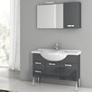 "ACF Bathroom Vanities Phinex 39.4"" Single Bathroom Vanity Set with Mirror"