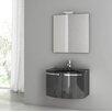 """ACF Bathroom Vanities Crystal Dance 27.6"""" Single Bathroom Vanity Set with Mirror"""