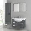 """ACF Bathroom Vanities Cubical 31.5"""" Single Bathroom Vanity Set with Mirror"""