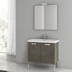 "ACF Bathroom Vanities City Play 29.9"" Single Bathroom Vanity Set with Mirror"