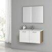"ACF Bathroom Vanities Nico 32.7"" Single Bathroom Vanity Set with Mirror"