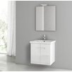 "ACF Bathroom Vanities New York 24.4"" Single Bathroom Vanity Set with Mirror"