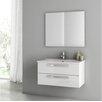 "ACF Bathroom Vanities Dadila 32.7"" Single Bathroom Vanity Set with Mirror"