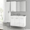 """ACF Bathroom Vanities Cubical 37.4"""" Single Bathroom Vanity Set with Mirror"""