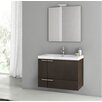 "ACF Bathroom Vanities Phinex 31.3"" Single Bathroom Vanity Set with Mirror"
