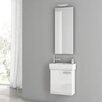 """ACF Bathroom Vanities Cubical 17.7"""" Single Bathroom Vanity Set with Mirror"""