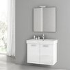 "ACF Bathroom Vanities Cubical 30.1"" Single Bathroom Vanity Set with Mirror"