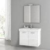 """ACF Bathroom Vanities Cubical 30.1"""" Single Bathroom Vanity Set with Mirror"""