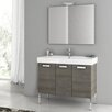 "ACF Bathroom Vanities Cubical 37.4"" Single Bathroom Vanity Set with Mirror"