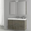 "ACF Bathroom Vanities New Space 39.2"" Single Bathroom Vanity Set with Mirror"