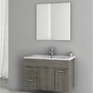 "ACF Bathroom Vanities Loren 32.7"" Single Bathroom Vanity Set with Mirror"