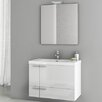"ACF Bathroom Vanities New Space 31.3"" Single Bathroom Vanity Set with Mirror"