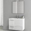 """ACF Bathroom Vanities New Space 31.3"""" Single Bathroom Vanity Set with Mirror"""