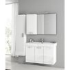 "ACF Bathroom Vanities Cubical 41"" Single Bathroom Vanity Set with Mirror"