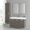 """ACF Bathroom Vanities Cubical 2 41"""" Single Bathroom Vanity Set with Mirror"""