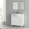 "ACF Bathroom Vanities London 34"" Single Bathroom Vanity Set with Mirror"
