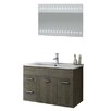 "ACF Bathroom Vanities Loren 34"" Single Bathroom Vanity Set with Mirror"