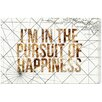 Oliver Gal 'Pursuit Of Happiness' Graphic Art Wrapped on Canvas