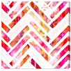 Oliver Gal Sugar Flake Herringbone Graphic Art Wrapped on Canvas