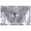 Oliver Gal 'Silver Winged Butterfly' by Blakely Home Art Print Wrapped on Canvas