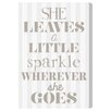 Oliver Gal 'Little Sparkle' by Blakely Home Typography Wrapped on Canvas