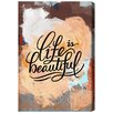 Oliver Gal 'Beautiful Colorful Life II' by Blakely Home Graphic Art Wrapped on Canvas