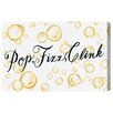 Oliver Gal 'Champagne Party' by Blakely Home Typography Wrapped on Canvas