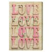 Oliver Gal 'Sugar Coated Love' by Blakely Home Typography Wrapped on Canvas