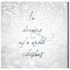 Oliver Gal 'White Christmas' by Blakely Home Typography Wrapped on Canvas