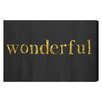 Oliver Gal 'Wonderful' by Blakely Home Typography Wrapped on Canvas