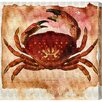 Oliver Gal 'The Red Crab' by Blakely Home Graphic Art Wrapped on Canvas
