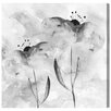 Oliver Gal 'BW Flowers' by Blakely Home Art Print Wrapped on Canvas