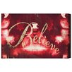 Oliver Gal 'Believe' by Blakely Home Art Print Wrapped on Canvas