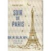Oliver Gal Parfum Soir de Paris' by Blakely Home Vintage Advertisement on Canvas