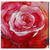 Oliver Gal 'RedRose' by Blakely Home Art Print Wrapped on Canvas