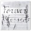 Oliver Gal Forever Blessed' by Blakely Home Graphic Art on Canvas