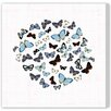 Oliver Gal 'Papillon Bleu' by Blakely Home Graphic Art Wrapped on Canvas