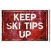 Oliver Gal 'SKI Tips Up' by Blakely Home Typography Wrapped on Canvas