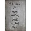 Oliver Gal 'The Time' by Blakely Home Typography Wrapped on Canvas