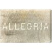 Oliver Gal Allegria' by Blakely Home Typography on Canvas