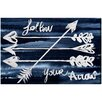 Oliver Gal 'Follow Your Arrow' by Blakely Home Art Print Wrapped on Canvas