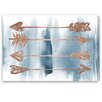 Oliver Gal 'Arrows Rose Gold' by Blakely Home Art Print Wrapped on Canvas