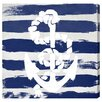 Oliver Gal Anchored to the Ocean Navy' by Blakely Home Art Print on Canvas