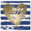 Oliver Gal 'My Navy Heart' by Blakely Home Art Print Wrapped on Canvas