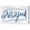 Oliver Gal 'Frank's New York' by Blakely Home Typography Wrapped on Canvas