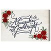 Oliver Gal 'Goodnight' by Blakely Home Typography Wrapped on Canvas